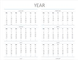 excel 2018 yearly calendar calendars office com