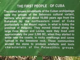 The trail we walked .... had lots of interesting facts about Cuba ...
