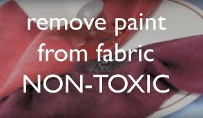 how to get dried acrylic paint out of your clothing fabrics non toxic you