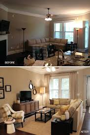 before and after living room arranging furniture home decorators
