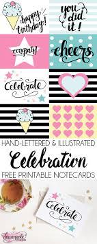 Free Printable Note Cards Free Printable Celebration Notecards Dawn Nicole Designs