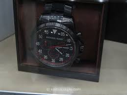 michael kors michael kors gage men s black chronograph