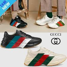 stripes leather sneakers 2018 19aw