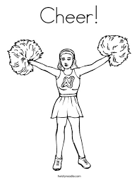 Small Picture Cheer Coloring Page Twisty Noodle