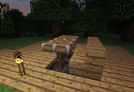 How to make a table in minecraft Dining Room Tables Minecraft Wonderhowto How To Make Furniture In Minecraft Minecraft Wonderhowto