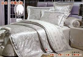 thin layer quilted luxury silk bedding set satin silk tribute silk bed linens 55x55cm shams tencel beddings silver 5076 beautiful bedding cotton comforter