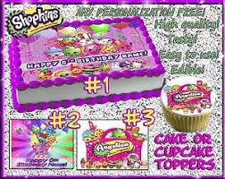 Shopkins Edible Cake Toppers Picture Sugar Paper Birthday Cupcakes