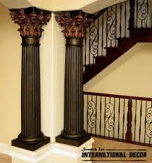 Decorative Interior Columns Columns Stylish Element In Modern Interior