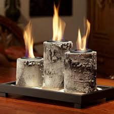 real flame birch pillar tabletop gel fireplace finally found a new set on