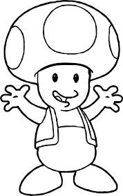 Small Picture Nintendo Super Mario Toad Coloring Page Wecoloringpage
