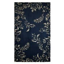 laura ashley winchester plush knit navy blue 2 ft x 5 ft area rug