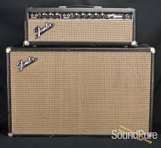Fender Bandmaster Speaker Cabinet Fender 1966 Bandmaster Blackface Head 2x12 Cab Vintage