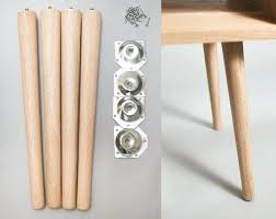 tapered wooden furniture legs 4 x tapered legs in solid oak furniture leg coffee table round tapered wood furniture legs
