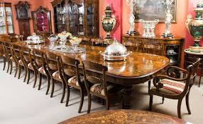 huge bespoke handmade marquetry walnut extending dining table 18 chairs at 1stdibs