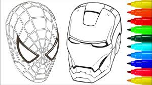 Small Picture Spiderman Iron Man Coloring Pages Colouring Pages for Kids with