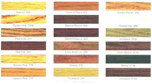 Varathane Classic Wood Stain Color Chart Wood Stain Colors For Pine Sushanthraikar