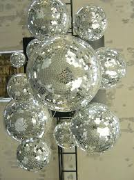 disco ball chandelier the most mirror modern home decor pertaining to 11