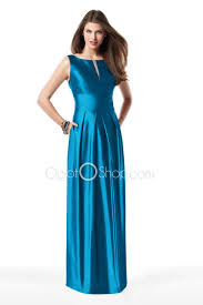 Style Bateau Neckline High Waist A Line Satin Evening Dress
