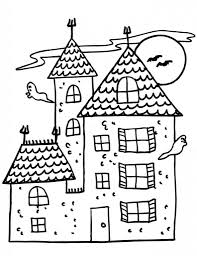 Haunted House Coloring Pages Printable Coloring Page For Kids
