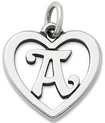 james avery heart initial charm dillard s
