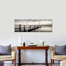 pyradecor peace 3 panels black and white landscape giclee canvas prints  on wall art prints for bedroom with pyradecor peace 3 panels black and white landscape giclee canvas