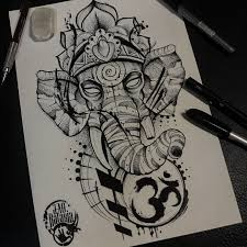 Elephant Drawing Tattoo At Paintingvalleycom Explore Collection