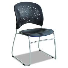 get quotations safco s 6804bl reve guest chair sled base with round back black