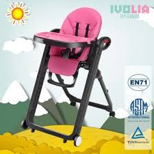 IVOLIA wholesale pink feeding chair playing Adjustable Restaurant Dining Softtextile Baby High Chair Ivolia Wholesale Pink Feeding Playing