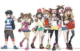 The age of the protagonists from GenV onwards, estimation is based on  head:body ratio: pokemon