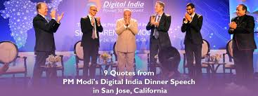 9 Quotes From Pm Modis Digital India Dinner Speech In San Jose
