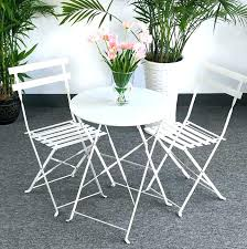 white metal outdoor furniture. Metal Garden Bistro Set Furniture Petite White Aluminium Weatherproof Outdoor . R