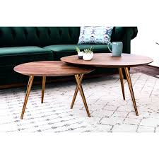 nesting coffee table mid century modern nesting coffee table set room hammary round nesting coffee table