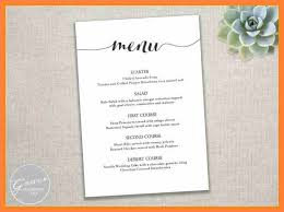 Free Menu Templates For Microsoft Word Mesmerizing 48 Free Menu Design Templates Word Andrew Gunsberg