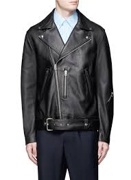 main view to enlarge acne studios nate lambskin leather jacket