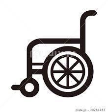車椅子 アイコン 車いす ベクターのイラスト素材 Pixta