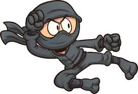 cute ninja clipart. Exellent Ninja Ninja Flying Kick Clip Art Illustration With Simple Gradients All In A  Single Layer And Cute Clipart I