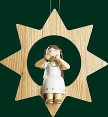 Christbaumschmuck Engel Mit Trompete Im Stern Baumbehang