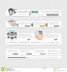 Free Menu Design Website Website Template Design Menu Navigation Elements With Icons