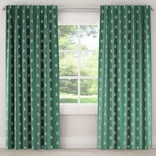 blackout curtains line tree evergreen green 120l skyline furniture