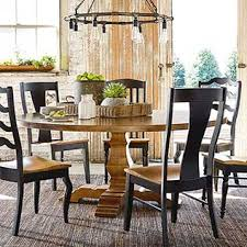 Round dining table set Small Benchmade Maple 72 Bassett Furniture Round Tables Round Dining Tables