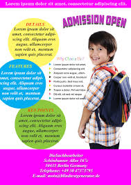 best school flyer templates to light up your academic events admission school flyers sample