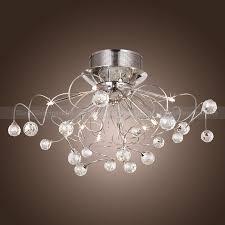 modern flush mount chandelier modern contemporary crystal chrome flush mount chandelier