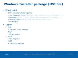 what is windows installer beginners guide to windows installer xml wix