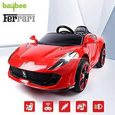 Car seats & accessories : Buy Baybee Ferrari Baby Toy Car Rechargeable Battery Operated Ride On Car For Kids Baby With R C Car Children Car Electric Motor Car Kids Cars Baby Racing Car For Boys Girls Age