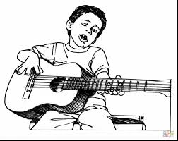 Small Picture magnificent boy playing guitar coloring pages with guitar coloring