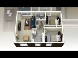 Small Picture 2 Bedroom House Plans 3D View Concepts YouTube