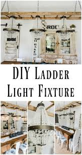 how to turn a ladder into a light fixture the white cottage farm how to turn a ladder into a light fixture