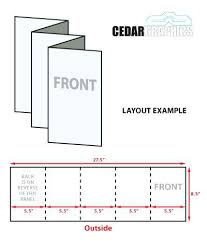 4 Panel Brochure Template Gate Fold Brochure Template X Download Adobe And 4 Panel