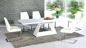 white glass dining table and 6 chairs white glass dining table set white high gloss glass