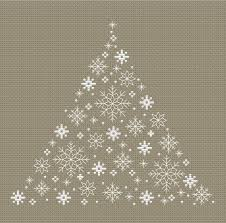 Snowflakes Christmas Tree Cross Stitch Pattern Instant Download Counted Cross Stitch Chart Pdf Pattern N207ld
